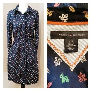 TOMMY HILFIGER | POCKETED FALL BUTTON DOWN DRESS